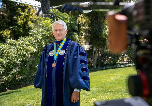 Click to open the large image: UCLA Chancellor Gene Block