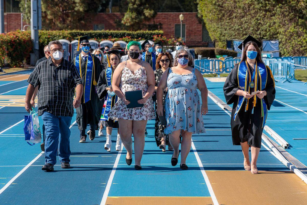 UCLA Commencement 2021 - Drake Stadium procession