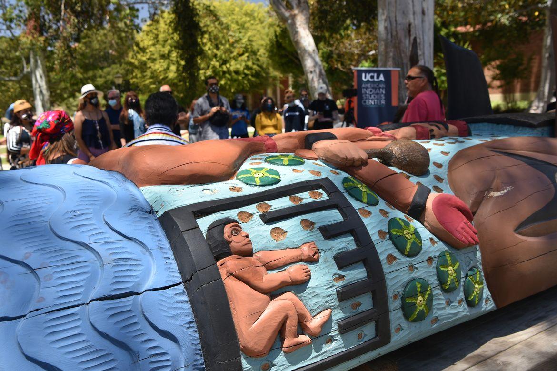 Lummi totem at UCLA