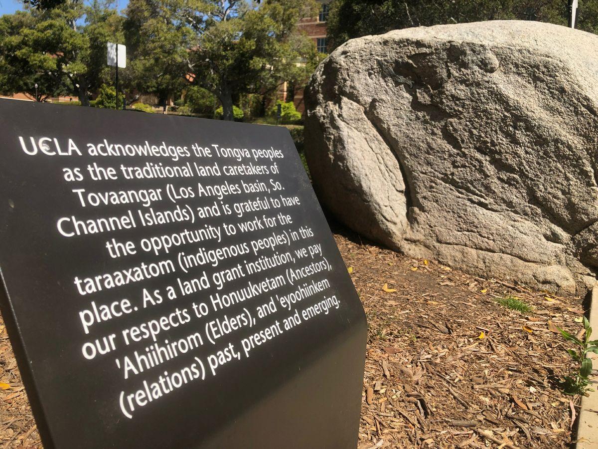 UCLA Tongva land acknowledgement