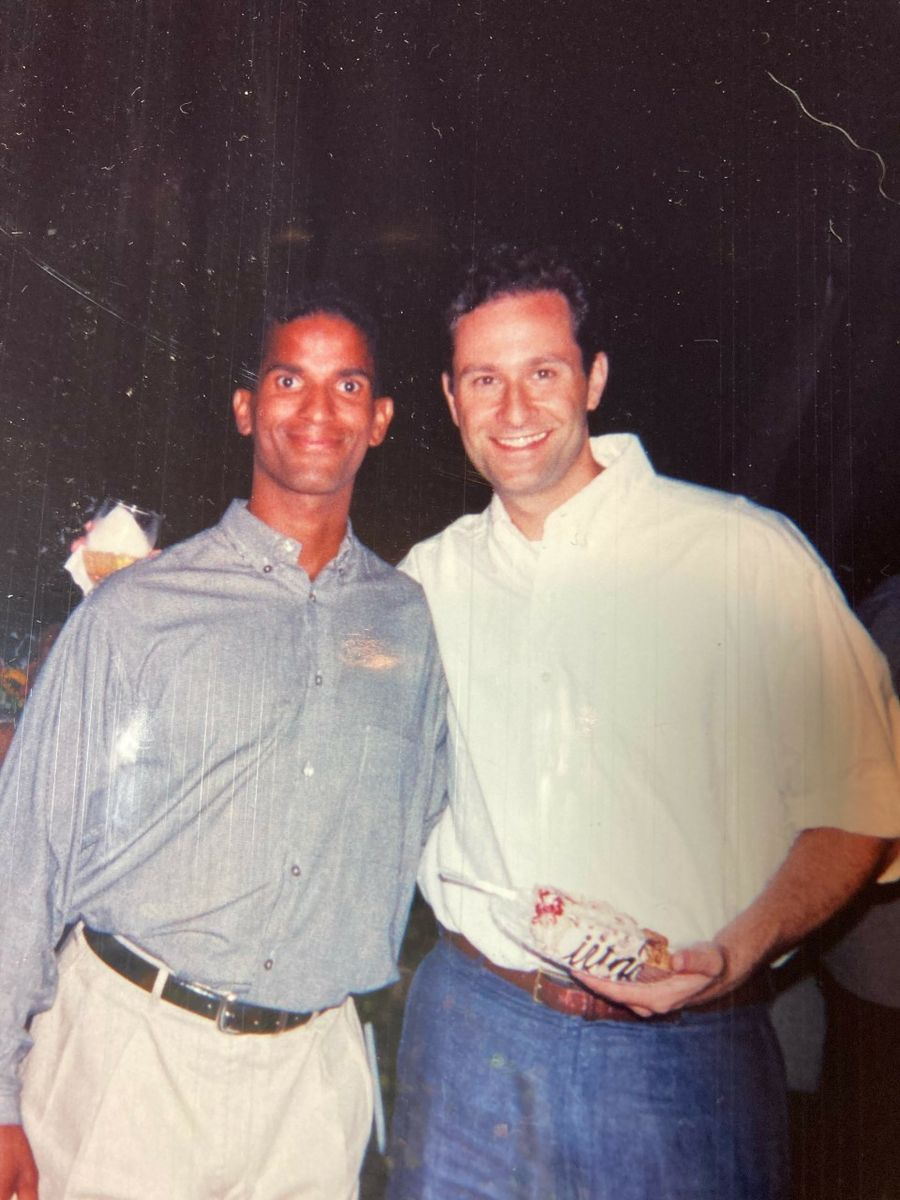Ron Baham and Doug Emhoff