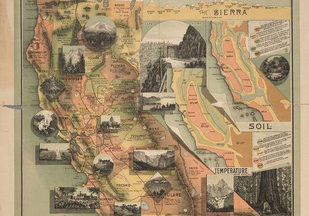 Unique Map of CA