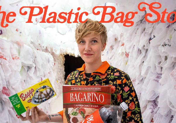 """Click to open the large image: """"The Plastic Bag Store"""""""