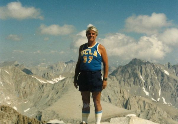 Click to open the large image: U.S. Rep. Jerry Lewis on Mt. Whitney