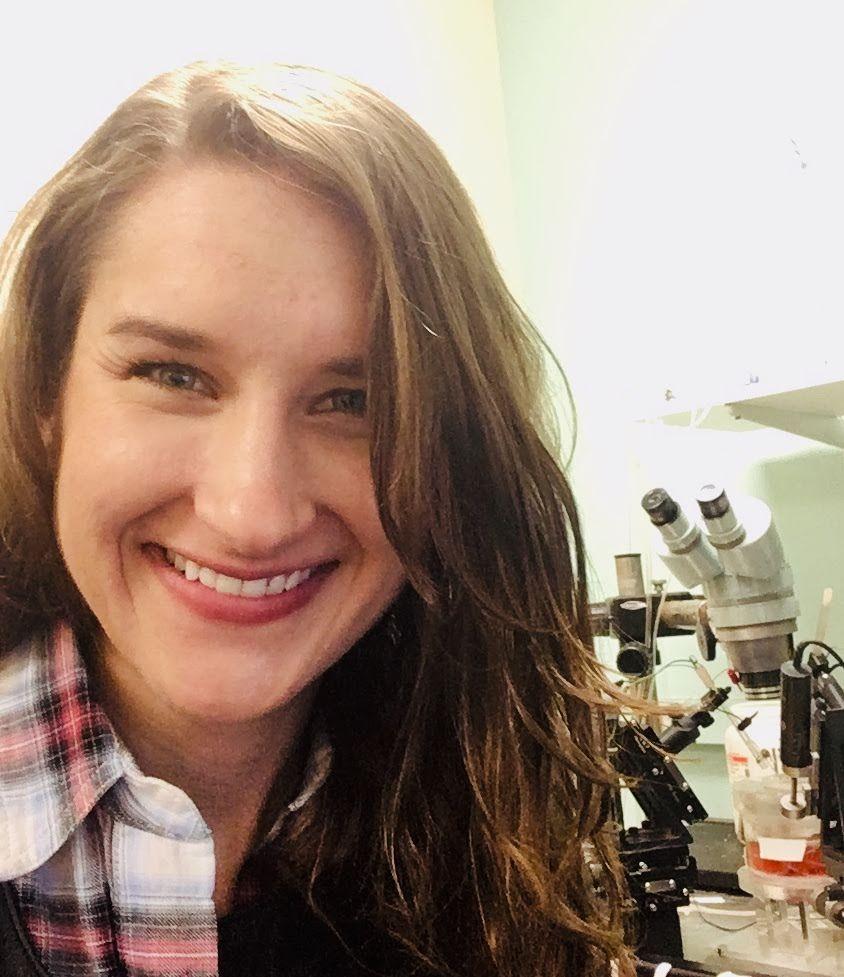 Christine Olson in lab