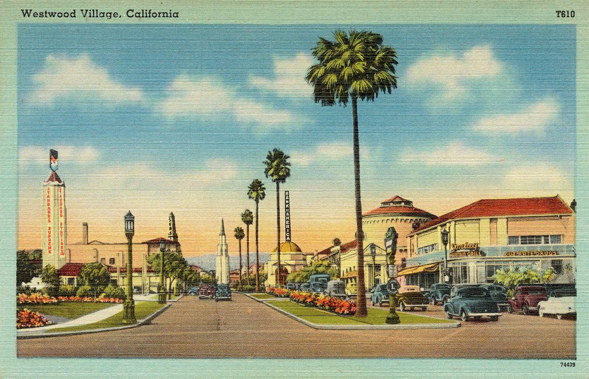 Vintage Westwood Village postcard