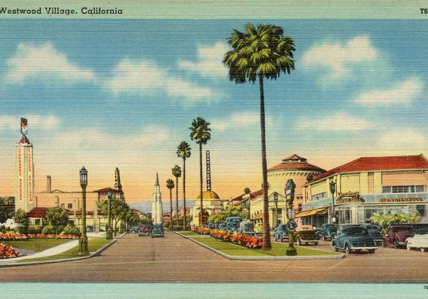 Click to open the large image: Vintage Westwood Village postcard