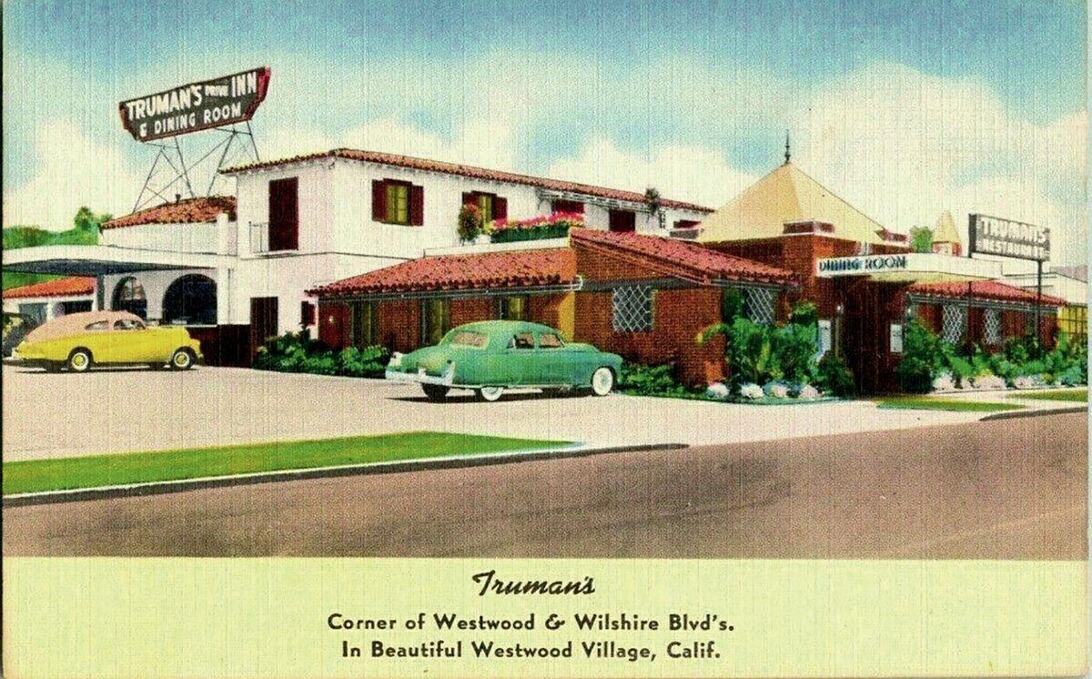 Vintage Westwood Village Truman's postcard