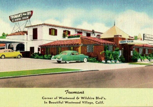 Click to open the large image: Vintage Westwood Village Truman's postcard