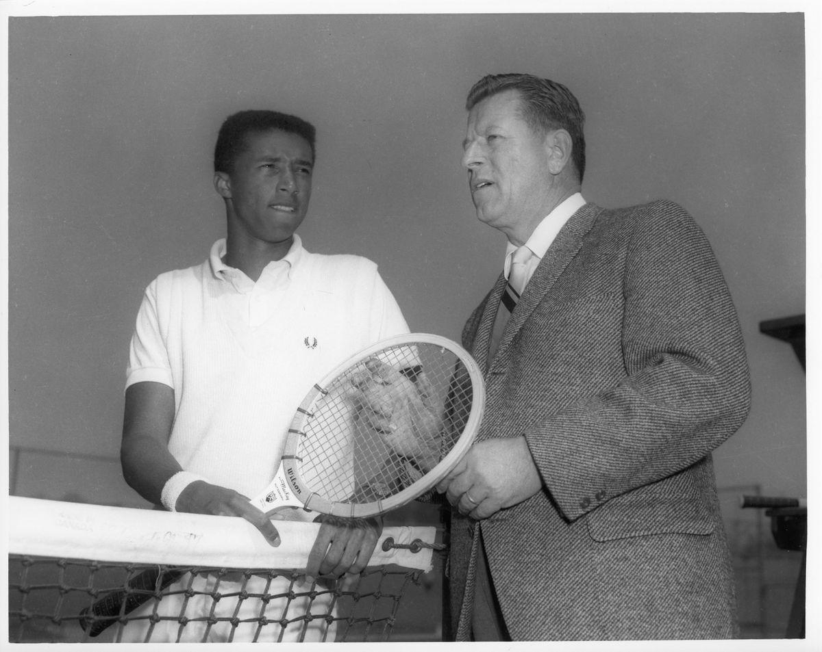 Arthur Ashe and J.D. Morgan