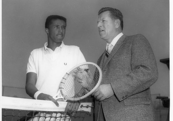 Click to open the large image: Arthur Ashe and J.D. Morgan