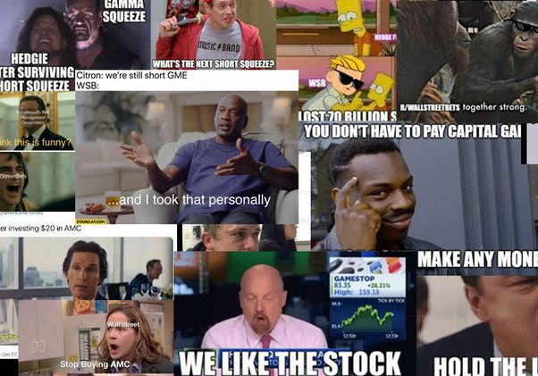 Short sellers collage
