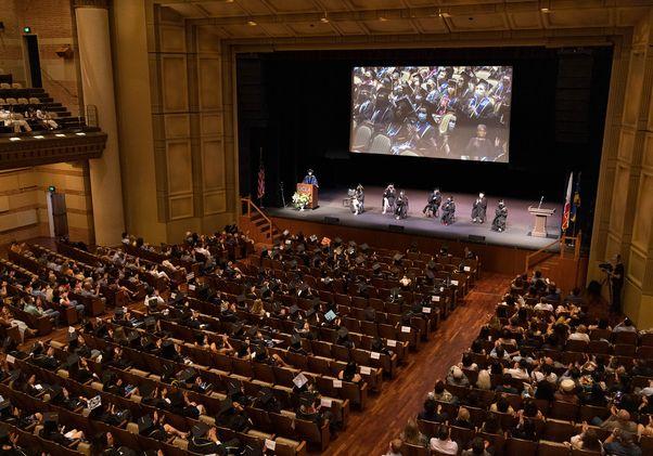 Class of 2020 Royce Hall graduation