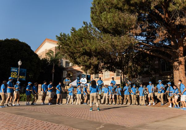 Click to open the large image: Marching band and Westwood Wander