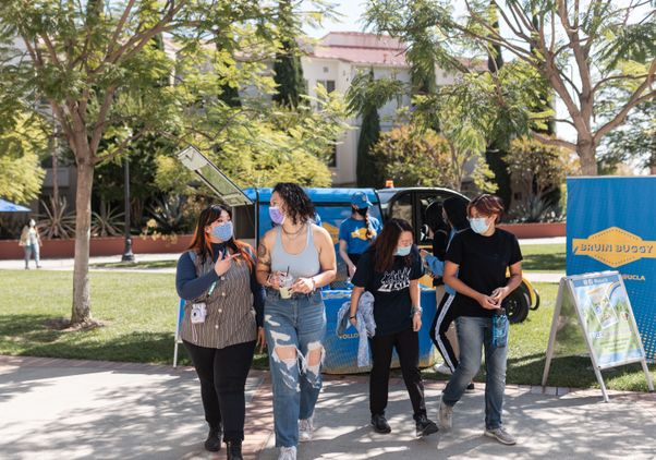Click to open the large image: Bruin Buggy and return to campus 2021