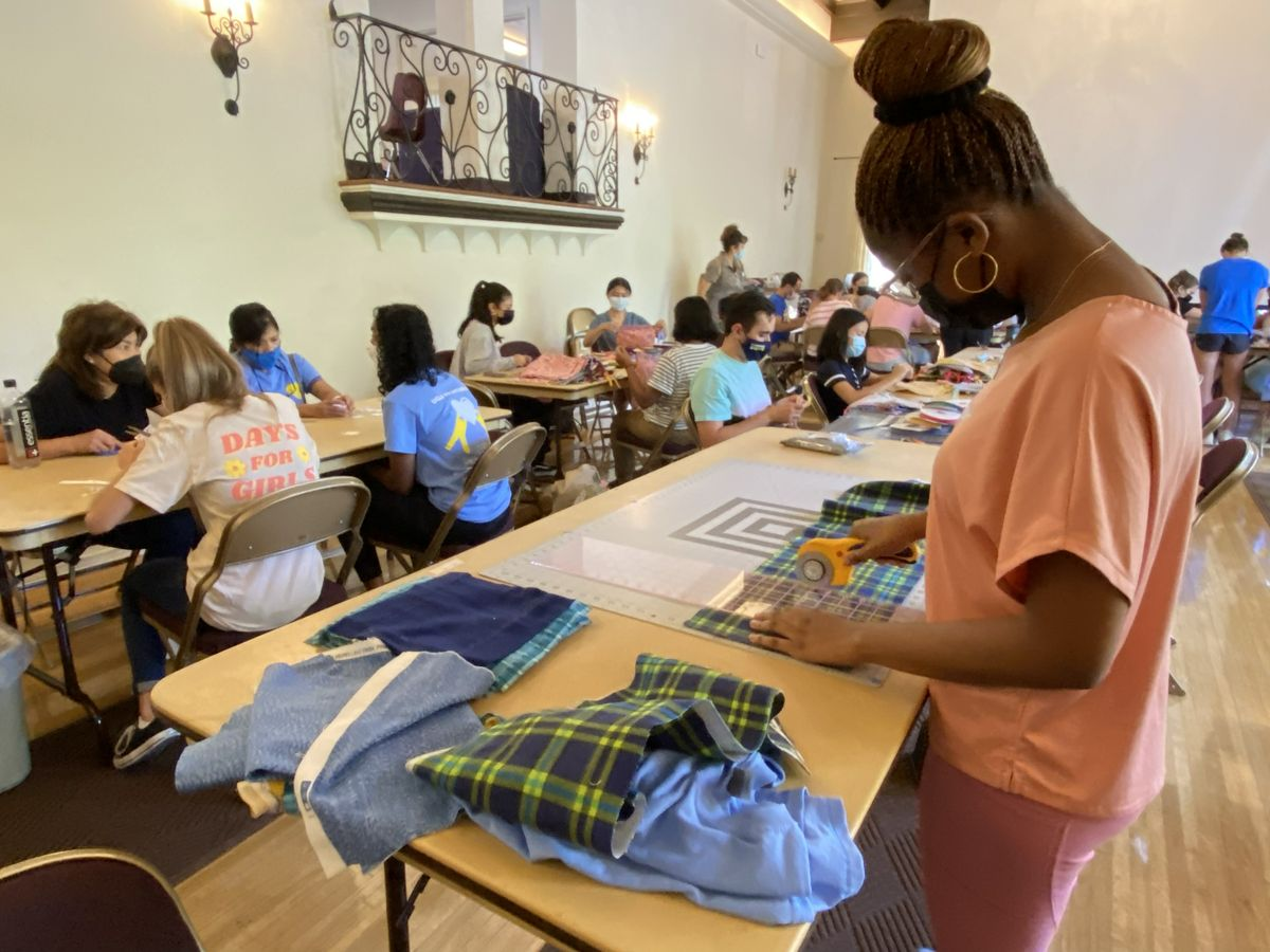 UCLA Volunteer Day 2021 - Mia Ford at Days for Girls