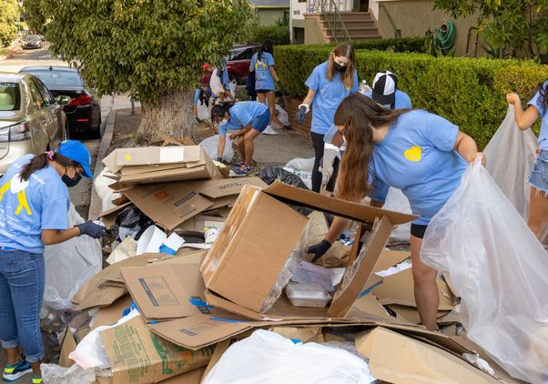 Click to open the large image: UCLA Volunteer Day 2021 Westwood cleanup
