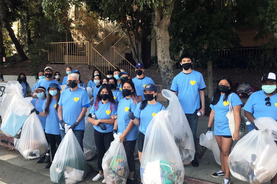 UCLA Volunteer Day 2021 Westwood cleanup  group