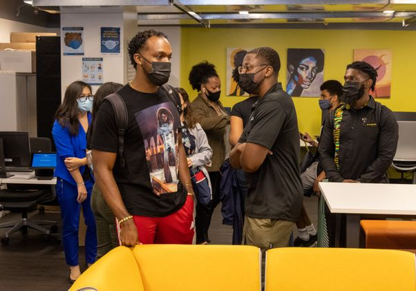 Click to open the large image: Black Bruin Resource Center opening event
