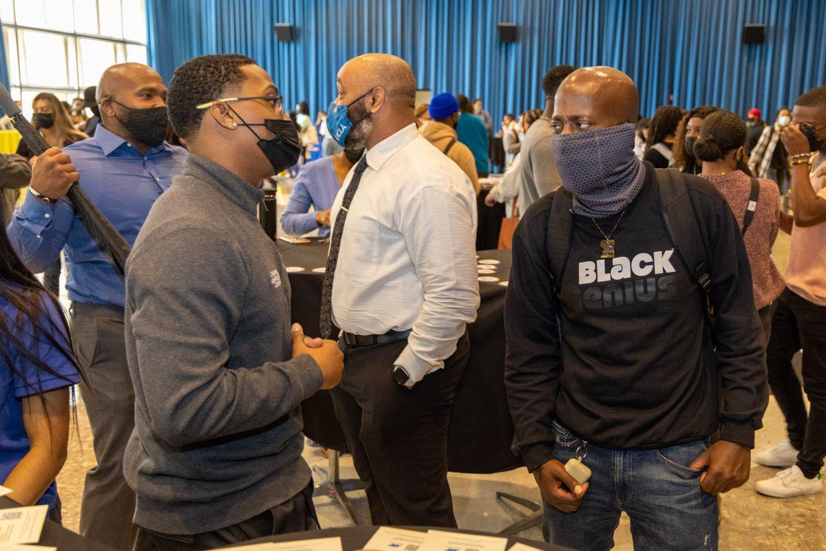 Black Bruin Resource Center opening event crowd