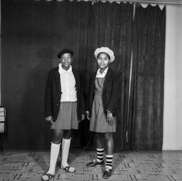 Teen girls in their school uniforms