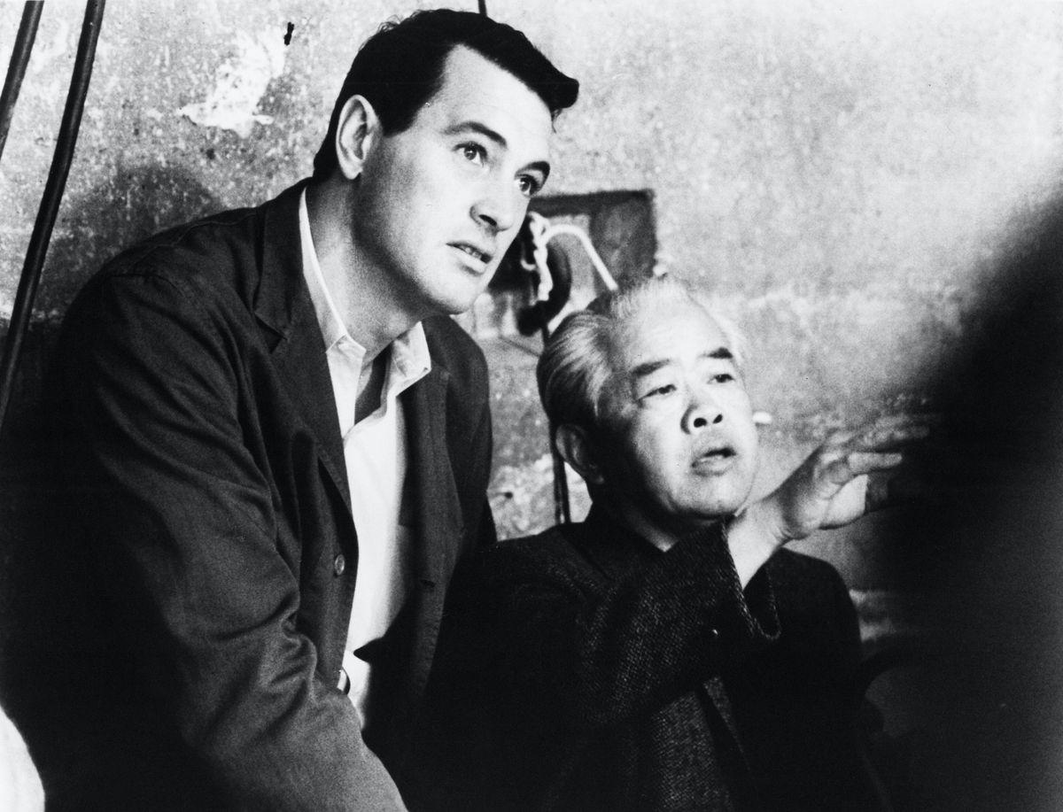 Rock Hudson and James Wong Howe