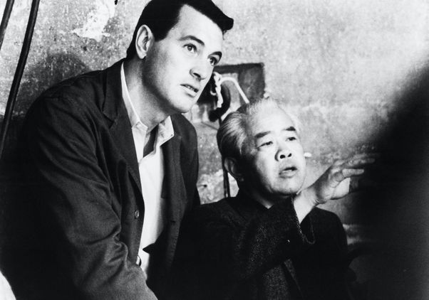 Click to open the large image: Rock Hudson and James Wong Howe