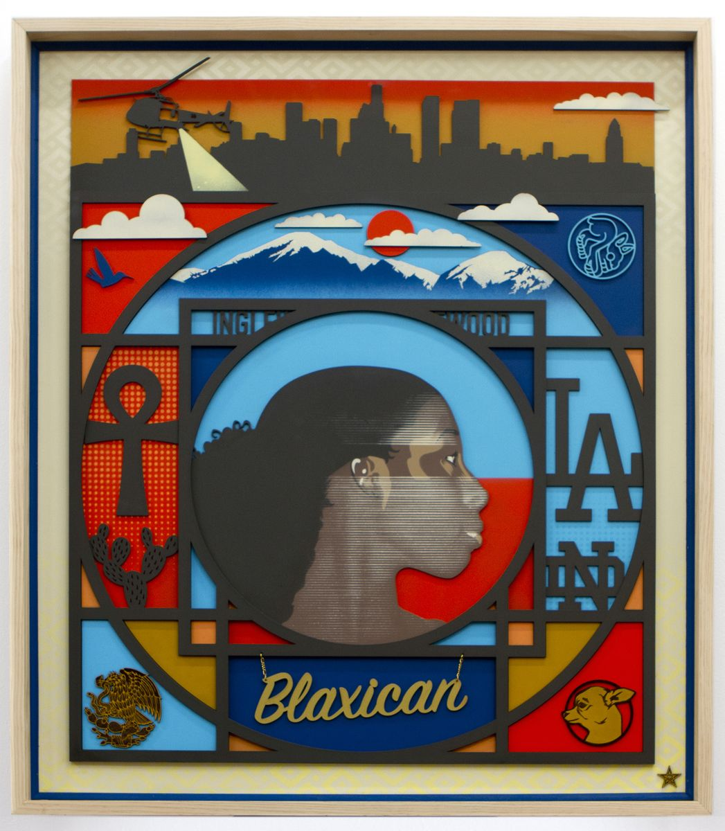Oscar Magallanes - Blaxican painting