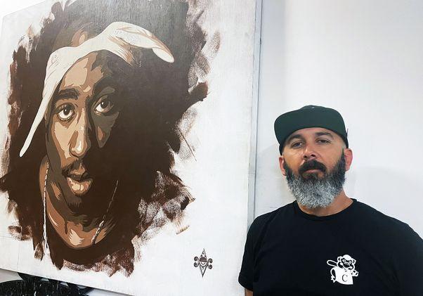 Oscar Magallanes Tupac Shakur painting
