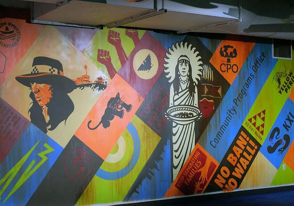 Click to open the large image: 50 Years of Resistance mural