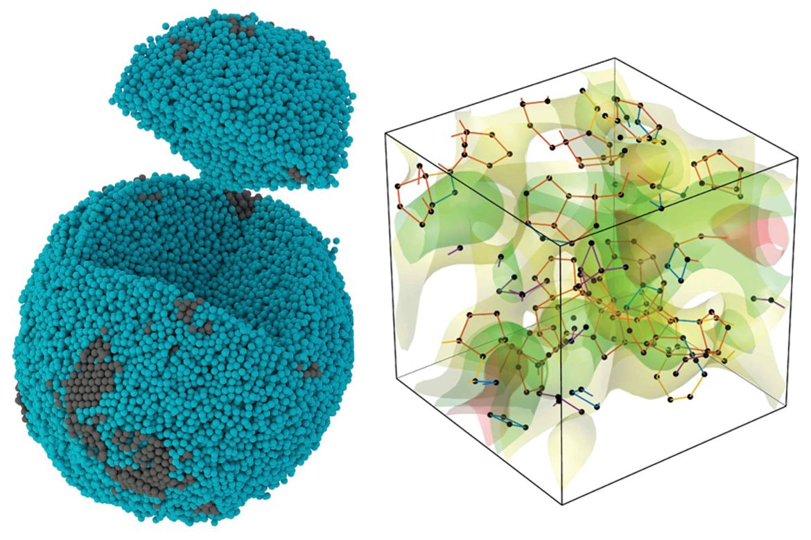 Image of palladium particle with representation of its internal structure