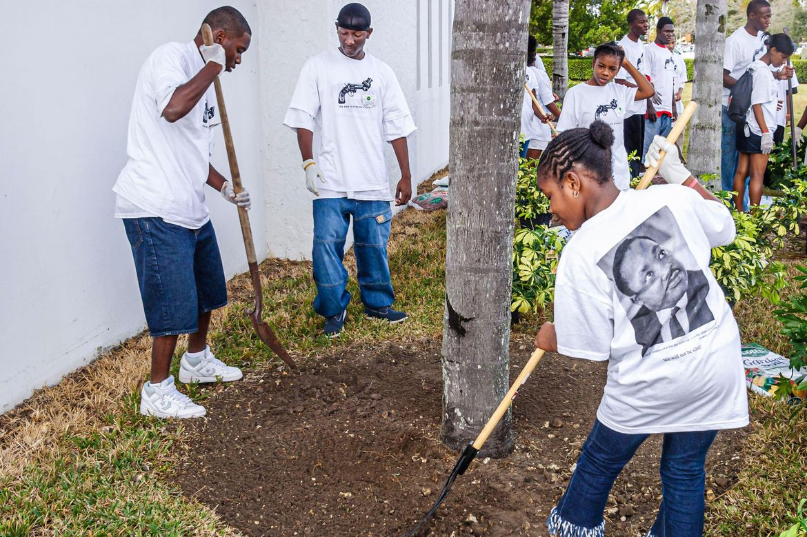 Community landscaping project