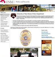 UNM Police Department Launches New Website