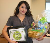 Martinez Receives First UNM Purchasing Sustainability Award