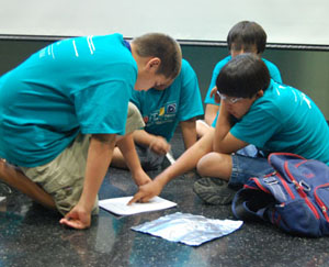 AISES Summer Camp students planning project