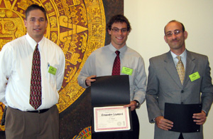 Scott McEntire, SNL; Alexander Leonard, UNM; Tariq Khraishi, Mechanical Engineering Professor, UNM