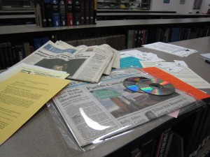 Documents in Centennial Time Capsule