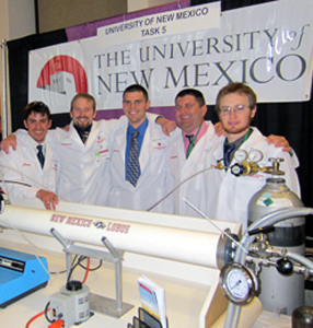 UNM Environmental Design Team Craig Garcia, Zachariah Harris, Andrew Gomez, Stephen Clark and Peter Crowder