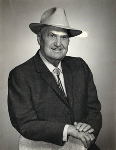 Hiram M. Dow at 79-years old from the William A. Keleher Collection at Center for Southwest Research and Special Collections