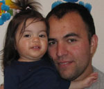 Jacobo Baca and daughter