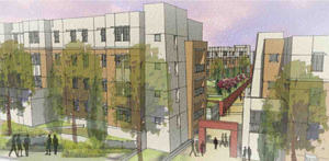 Preliminary Drawing of New Freshman Residence Halls