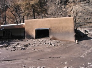 Ranch house after August flood.