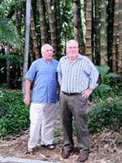 Professors Khosrow Ghavami (l.) and Raul Rosas d Silva (r.).