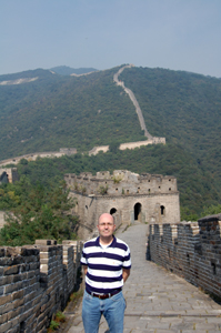 Edl Schamiloglu at Great Wall in China