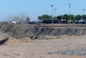 Land in South Campus area that UNM is seeking to acquire.