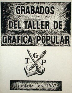 Taller de Grafica Popular logo poster from the Center for Southwest Research Pictorial Collection