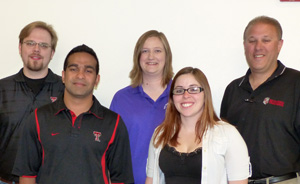 Texas Tech team (l. to r.): Bryan Kahler, Steve Mani, Courtney Pinnel, Kaydee McMennamy, Tim Dallas