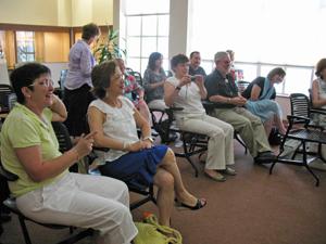 Spanish pilgrims visit Zimmerman Library