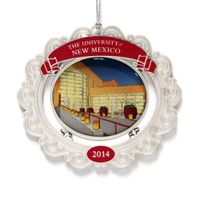 The 2014 UNM holiday ornament features the SUB