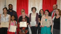Winners of the Provost's Outstanding Staff Awards 2014 honored